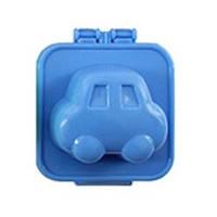 Фигурная формочка для вареных яиц и бенто Машинка голубая