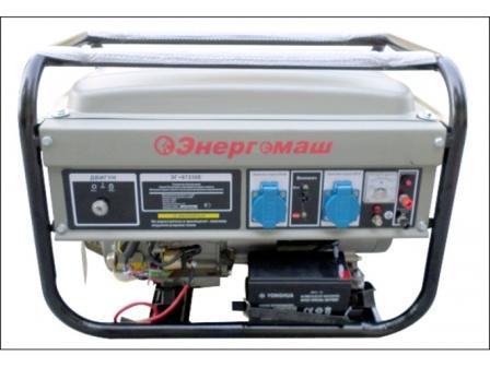 Генератор бензиновый 3000 Вт Энергомаш ЭГ-87230Е