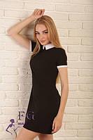 Платье с воротником. В наличии Размеры: 42, 44, 46, 48 Цвет:красный,электрик, мятный,персиковый, чёрный