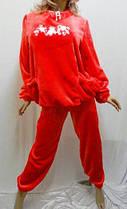 Пижама женская из плюшевой махры с карманами, размеры от 46 до 52, Харьков, фото 3