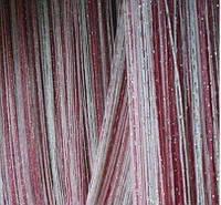 Шторы-нити кисея люрекс радуга 3мх3м розовый