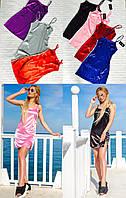 Женское атласное платье в спортивном стиле (цвета в ассортименте) Love KAN № 0203