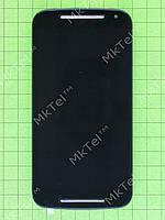 Дисплей Motorola Moto G (2nd. Gen) с сенсором, панелью Копия А Черный