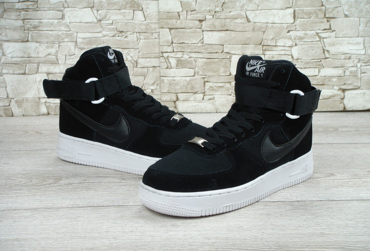 41cf08bb Кроссовки мужские Nike Air Force 1 High 07 Black/White Реплика - Work Hard  Shop