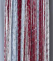 Шторы-нити люрекс радуга 3мх3м бордо, фото 1