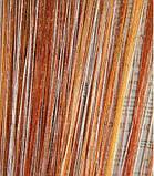Шторы-нити кисея люрекс радуга 3мх3м оранжевый с белым
