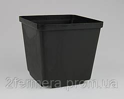 Горшок квадратный КВ 12 темный
