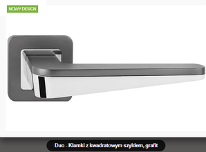 Дверная ручка Metal-bud Duo графит