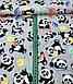 Хлопковая ткань польская панда с разноцветными шариками на сером №587, фото 2