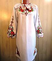 """Платье с вышивкой """"Роза"""" Размер 46-48"""
