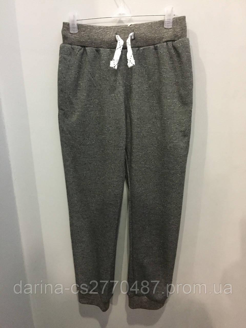 Подростковые спортивные штаны на манжете на мальчика 134,158 см