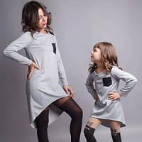 Распродажа платье асимметрия для мамы и дочки