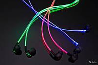Светящиеся наушники Glow. Led наушники светятся как неоновые