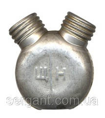 Маслёнка двухкамерная двухгорловая алюминиевая оригинальная для АК