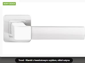 Дверная ручка Metal-bud Trend никель- сатин