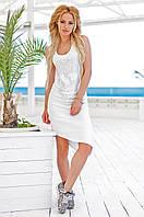 Женское хлопковое платье с диагональным подолом Love KAN № 0205