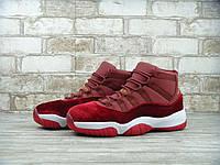 Кроссовки женские Air Jordan 11 Heiress Red Velvet Реплика