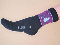 Женские зимние махровые носки (снеговик)