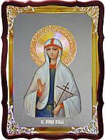 Икона с фоном под серебро Святая Агафья  в церковной лавке