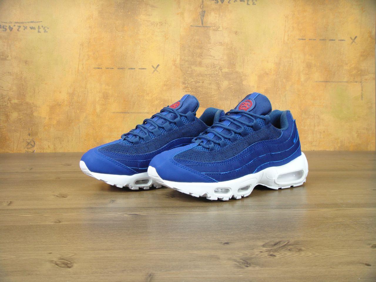 c455a620 Кроссовки мужские Nike Air Max 95 x Stussy Loyal Blue Реплика - Work Hard  Shop в