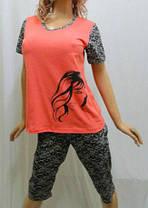 Пижама женская футболка и бриджи большие размеры 52,54,56, Харьков, фото 2