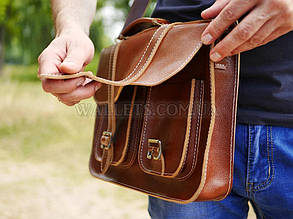 Портфель кожаный HANDMAID, ручная робота