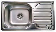 Кухонная мойка врезная 7642 см декорированная металл 0,8 мм Galaţi Anka Textură