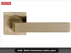 Дверная ручка Metal-bud Qubik  бронза
