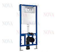 Система инсталляции c рамой Novaplastik, с кнопка смыва хром
