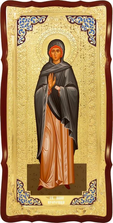 Храмовая икона в ризе Святая Анна пророчица в церковной лавке