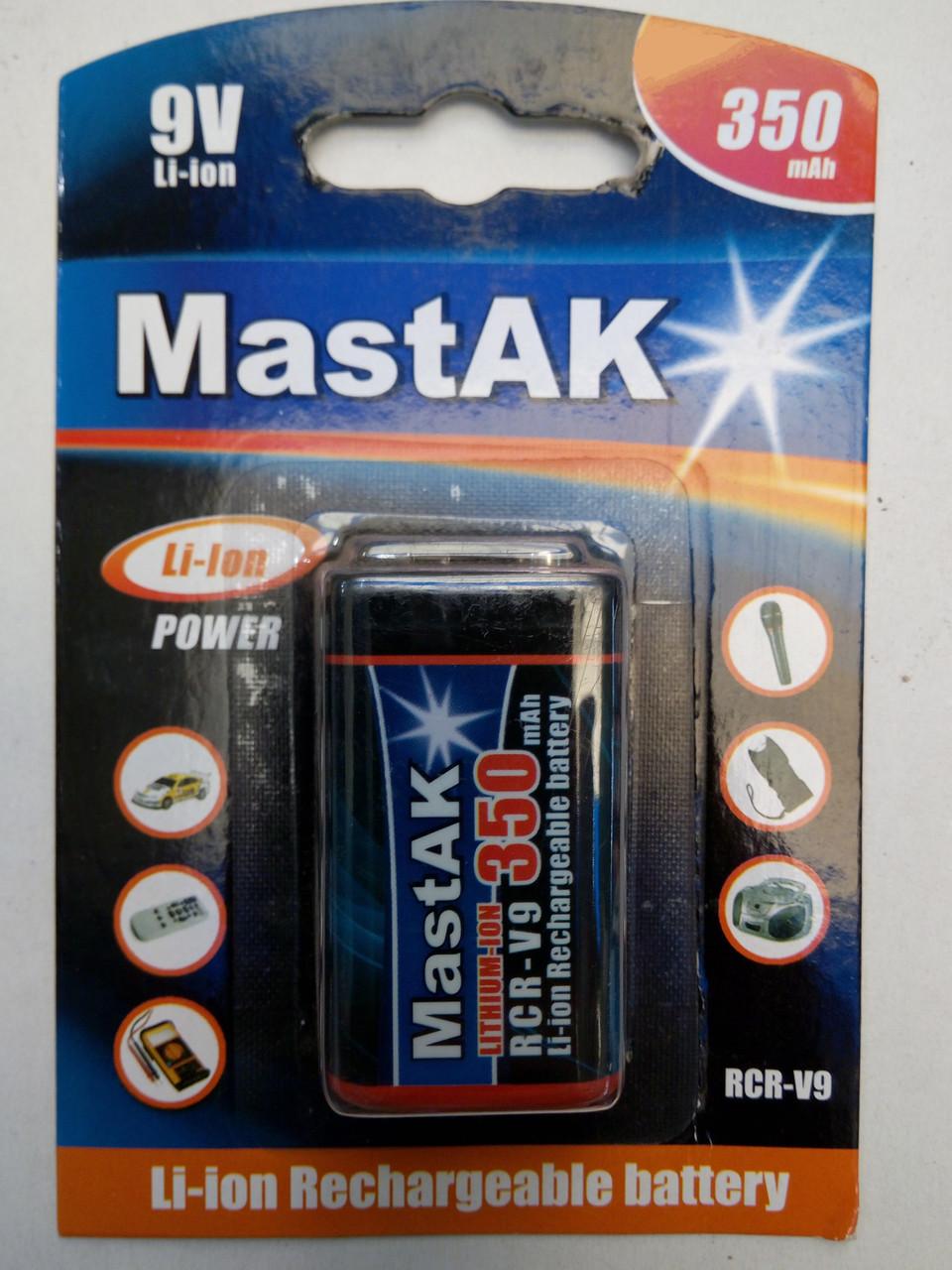 Аккумулятор крона MastAK 9v 350mah