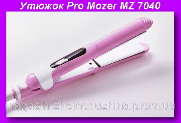 PRO MOZER MZ-7040 А Гафрэ,Утюжок Выпрямитель для Волос Pro Mozer, фото 2
