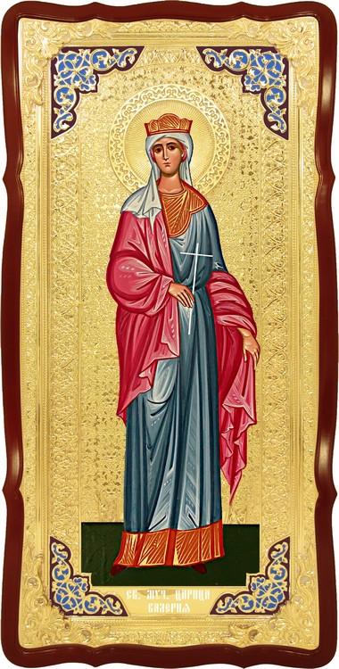 Храмовая икона в ризе Святая Валерия в церковной лавке