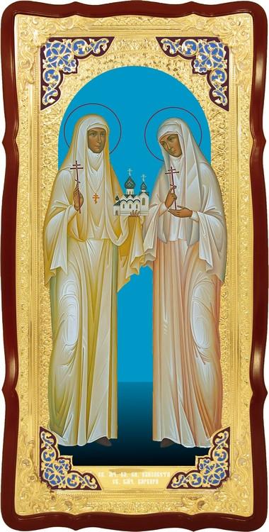 Храмовая икона в ризе Святые Елизавета и Варвара в православном магазине
