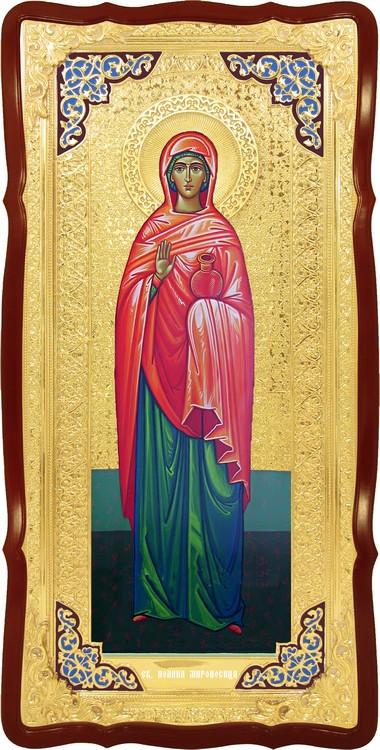Храмовая большая икона в ризе Святая Иоанна в церковной лавке