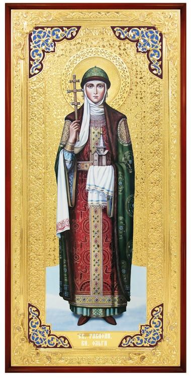 Икона большого размера в ризе Святая Ольга в церковной лавке