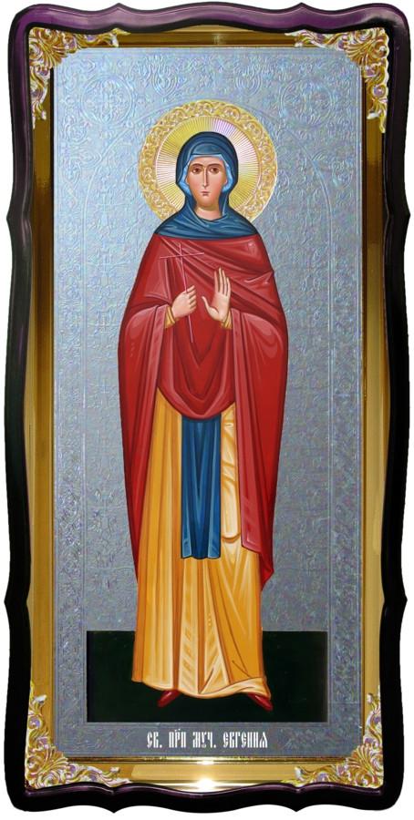 Икона храмовая под серебро Святая Евгения в церковной лавке