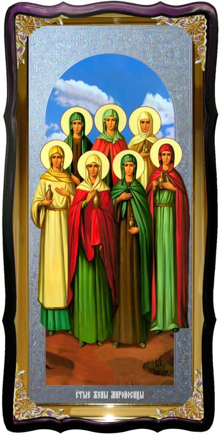Икона большая под серебро Святые Жены Мироносицы в православном магазине