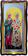 Икона храмовая под серебро Святые Ксения и Матрона в церковной лавке