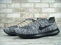 Кроссовки мужские Nike Free Run Flyknit 5.0 Gray/Black