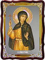 Икона с фоном под серебро Святая Антонина  в православном интернет магазине