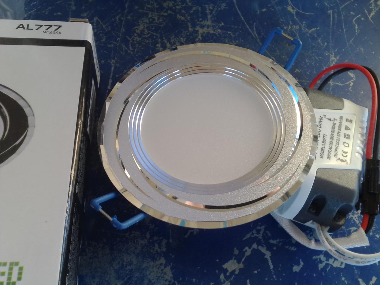 Светодиодная панель 5w Feron AL777 5w 10LED 400Lm