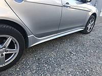 Mitsubishi Lancer X Боковые пороги 2 шт под покраску