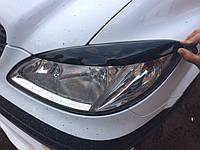 Mercedes Vito 639 Реснички прямые (черный мат)