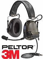 Активные наушники 3M / Peltor ComTac III Single Comm - Olive Drab Green
