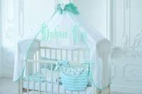 """Постельный комплект для новорожденных Добрый сон """"Eco 8"""", цвет зверята"""