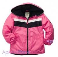 OshKosh Куртка розовая на девочку в черно-белую полоску