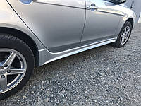 Mitsubishi Lancer X 2008+ гг. Пороги аэродинамические EVO (2 шт, под покраску)