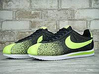 Кроссовки мужские Nike Cortez 2015 Black/Green Реплика