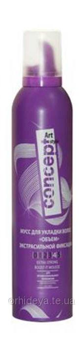 Мус для укладання волосся екстрасильної фіксації Concept 300 мл